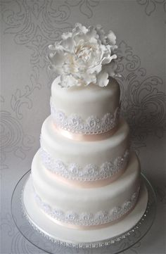 lace wedding cakes | ... in Furness and the Lake District, Cumbria: Peony Lace…
