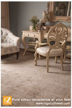Pure silken decadence at your feet! Rugs Miami | www.rugsbyzhaleh.com Rugs by zhaleh