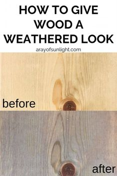 The Best Stain for Weathered Wood Look - Love farmhouse and rustic? You're probably also wanting the BEST stain for weathered wood look to - Weathered Wood Stain, Weathered Furniture, How To Stain Wood, Whitewash Furniture, Distressed Wood, Minwax Stain, Diy Furniture Projects, Wood Projects, Upcycled Furniture