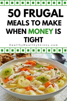 It's super hard to figure out what to cook every night and save money doing it. Eating out is expensize and cooking at home is a must. Here are 50 inexpensive dinners you can make each night that your family will enjoy. Cook At Home, Frugal Meals, What To Cook, Food To Make, Saving Money, Dinners, Night, Cooking, Healthy