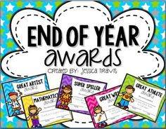 Get ready to celebrate a year of learning with these FREE end of year awards! Just print and fill them out! ***** Need these in Black & White to save on ink???? - Check out the same packet in my store that are black and white!!******* 24 awards included (12 for