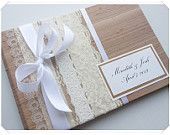 Wedding Guest Book Edwardian Charm (made to order)