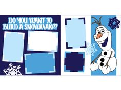 Do you want to to build a Snowman? Pre Cut Scrapbook Kit by Scrapbook Concierge