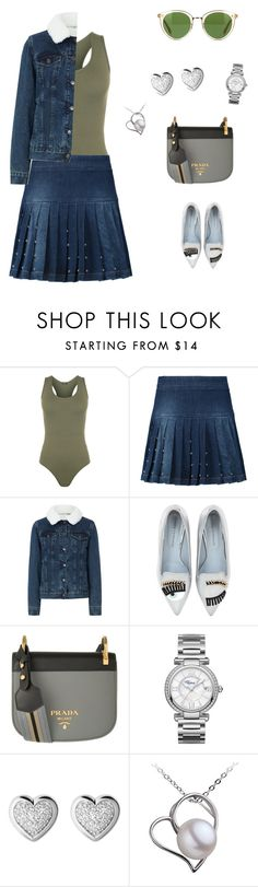 """""""Untitled #1969"""" by bushphawan ❤ liked on Polyvore featuring WearAll, McQ by Alexander McQueen, Chiara Ferragni, Prada, Chopard, Links of London and Oliver Peoples"""