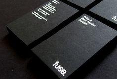 black minimalistic business cards