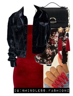 """""""Night Life 🍓"""" by leonnaw ❤ liked on Polyvore featuring Sole Society, Charlotte Russe and MANGO"""