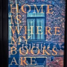 Home is where my book are