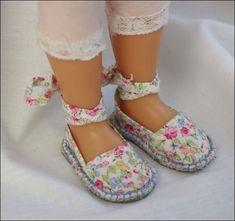 Изготовление обуви для кукол своими руками. Эспадрильи