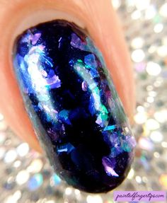 Painted Fingertips | Born Pretty Store Chameleon Nail Flakies #4 - macro