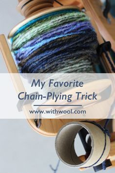 Favorite Chain-Plying Trick Mugs, cups, and cardboard tubes make it so easy to take a break when you're in the middle of chain-plying handspun. Spinning Wool, Hand Spinning, Spinning Wheels, Crochet Chain, Crochet Geek, Crochet Humor, Double Crochet, Crochet Lace, Drop Spindle