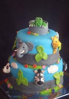 dierentuin taart By taartschuur on CakeCentral.com