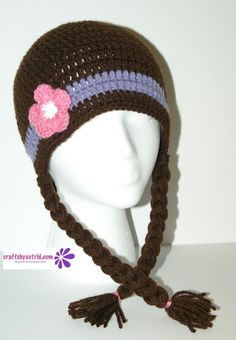 "8"" x 20"" Doc McStuffins Crocheted Hat. 2 Years - 4 Years. ***This crochet hat…"