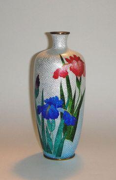 Antique Japanese 19th Century Ginbari Cloisonne Vase Signed  #Signed