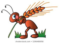 Pictures Of Ants, Clip Art Pictures, Bugs Drawing, Flower Art Drawing, Animals Beautiful, Cute Animals, Ant Crafts, Easy Drawings, Cute Art