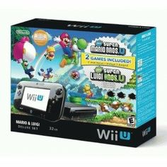 awesome New Wii Games | Wii U Deluxe Set with New Super Mario Bros U and New Super Luigi U