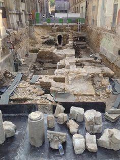 Fouille archéologique sur l'île de la cité à Paris