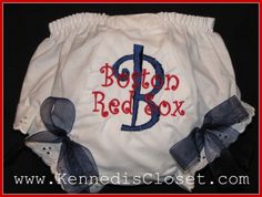 Red Sox diaper cover