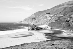 BIG SUR CALIFORNIA BLACK AND WHITE