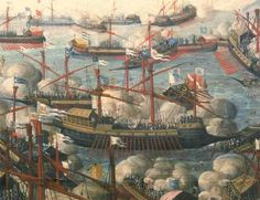 Spain / Battles, Knights - The Battle of Lepanto, was a naval engagement taking place on 1571 when a fleet of the Holy League, of which the Venetian Republic and the Spanish Empire were the main powers, inflicted a major defeat on the fleet of the Ottoman Empire in the Gulf of Patras. The Holy League was a coalition of European Catholic maritime states arranged by Pope Pius V and led by admiral John of Austria, as agreed between Philip II of Spain.