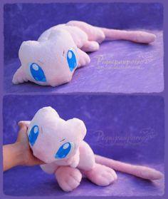 Cute Mew - Handmade plushie by Piquipauparro.deviantart.com on @DeviantArt