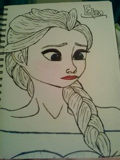 My Drawing of Elsa from Disney's Frozen