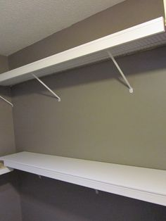 Yay for a practical wayntomutilize thise crappy wire shelves.   How to cover up wire closet shelving