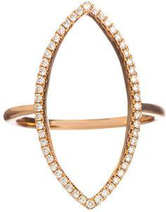 Meredith Marks Open Navette Ring - $1,595.00