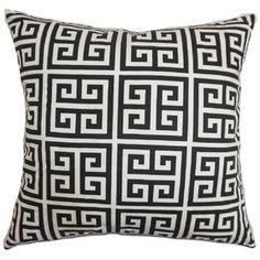 Paros Greek Key Cotton Throw Pillow