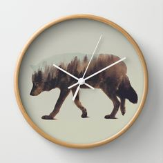 BUY: http://society6.com/product/norwegian-woods-the-wolf_wall-clock?curator=4thecrime  The Wolf