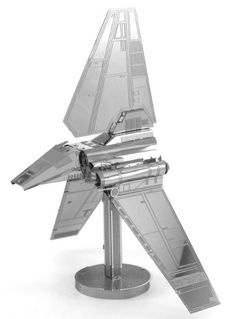 An elegant example that stands apart from typical brutish Imperial engineering, the Lambda-class Imperial Shuttle is a multi-purpose transport used in the Imperial starfleet. Build your own beautiful Imperial Shuttle model with this easy kit!