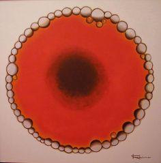 Burbujas II - óleo s/tabla 50 x 50