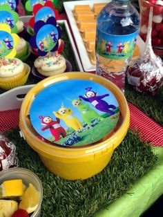 Yellow Teletubbies Party Favour Bucket 3rd Birthday, Birthday Parties, Party Favors, Party Themes, Bucket, Yellow, Friends, Diy, 3 Years