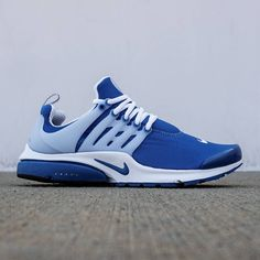 Nike Men Air Presto QS (blue / island blue / white / black) Nike Air Presto Blue, Nike Presto, Nike Gear, Blue Nike, Nike Outfits, Shoe Collection, Cute Shoes, Adidas Sneakers, Footwear