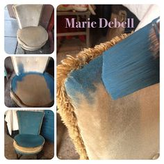 @Annie Sloan Chalk Paint used on fabric - yes it works.  Using Aubusson Blue on an old Draylon Nursing Chair it is clear that using ASCP on fabric is a great idea! Inspired to try this by @amy chalmers having seen her wonderful french sofa.  Now I just need for find a lovely french chair of my own!