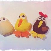 FACIENDO MOÑACOS Peluchetes de la familia del pollo Fotamana