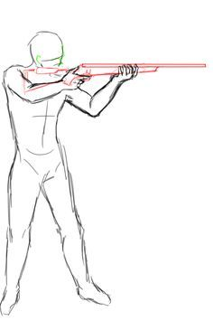 I'm really surprised that there's aren't many pose refs on how to draw someone aiming a rifle at a simple side angle xD Decided to draw one up; the rifle model used is loosely based on the tikka but I don't remember how big they are lol.Disclaimer: I'm Anatomy Drawing, Manga Drawing, Sketch Drawing, Drawing Ideas, Art Sketches, Art Drawings, Poses References, Drawing Base, Figure Drawing