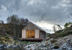 A Norwegian boathouse by TYIN featured in Cabins (Taschen, 2014).