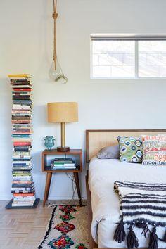color crush + book stacks