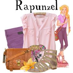 Love all these! Outfits inspired by Disney princesses but totally wearable. Rapunzel's is my favorite :)