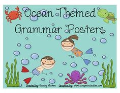 These cute beach and ocean themed posters are a great resource for your classroom!  Some of the topics include:*Nouns (common, proper, singular...