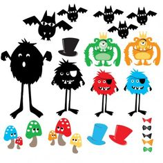 Cocoon Coutre Spooky Mini Monsters from The Wall Sticker Company.
