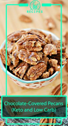 Chocolate-Covered Pecans (Keto and Low Carb) – – Low Carb Pecan Recipes Pecan Recipes, Candy Recipes, Chocolate Recipes, Fall Recipes, Low Carb Recipes, Whole Food Recipes, Healthy Recipes, Chocolate Covered Pecans Recipe, Granny's Recipe