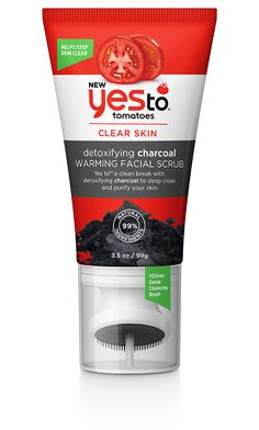 Yes to Tomatoes Detoxifying Charcoal Warming Facial Scrub I SWEAR on this brand! Homemade Acne Treatment, Facial Treatment, Yes To Products, Beauty Products, Beauty Tips, Acne Products, Lush Products, Beauty Ideas, Make Up