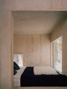 Home Interior Salas Nook Plywood Interior, Plywood Walls, Wood Headboard, Wood Bedroom, Master Bedroom, Interior Architecture, Interior And Exterior, Interior Design, Interior Plants