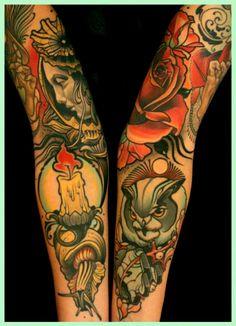 Tattoos done by Lars Uwe Jensen (Lus Lips).