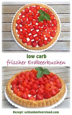 low carb Erdbeerkuchen / Erdbeerboden, glutenfrei So ein Erdbeerkuchen mit… Paleo Dessert, Low Carb Desserts, Healthy Desserts, Best Low Carb Recipes, Favorite Recipes, Law Carb, Sweet And Low, Paleo Treats, Eat Smart