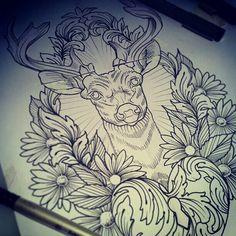 springbok tattoo design by sethd2725 piercings and tattoos x pinterest tattoo designs. Black Bedroom Furniture Sets. Home Design Ideas