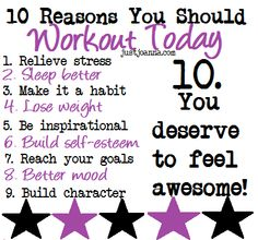 We love these 10 reasons that you should workout today. Skip the excuses - they are not going to give you the fast metabolism that you want. Get exercising! Fit Girl Motivation, Fitness Motivation Quotes, Motivation To Work Out, Workout Motivation, Easy Weight Loss, How To Lose Weight Fast, Reduce Weight, Fast Metabolism, I Work Out