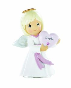 Precious Moments- October Birthday Angel - http://www.preciousmomentsfigurines.org/angels/precious-moments-october-birthday-angel/