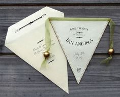Bunting Save the Date in Fabric and Paper  for a by PostmansKnock, £2.40